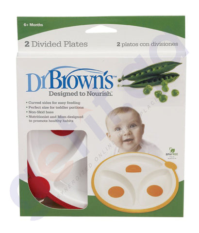 BUY DR BROWN 725-DB-DIVIDED PLATE 2 PACKS ONLINE IN QATAR
