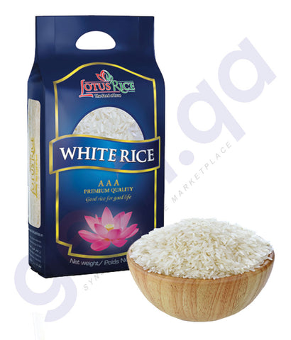 BUY BEST PRICED JASMINE LOTUS WHITE RICE-2kG/ 5KG ONLINE IN DOHA QATAR