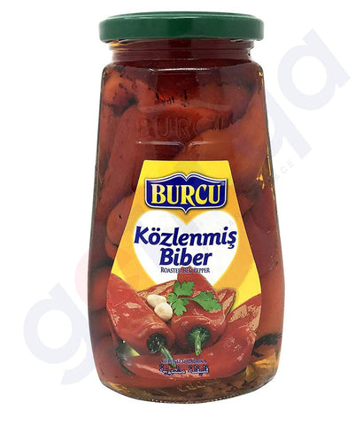 BUY BEST PRICED BURCU ROASTED RED PEPPER 560GM IN DOHA QATAR