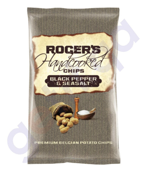 BUY ROGERS HAND COOKED BLACK PEPPER & SEASALT 150GM IN QATAR