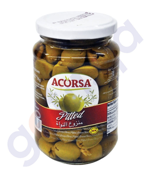 BUY BEST PRICED ACORSA OLIVES GREEN PITTED JAR 170GM ONLINE IN QATAR
