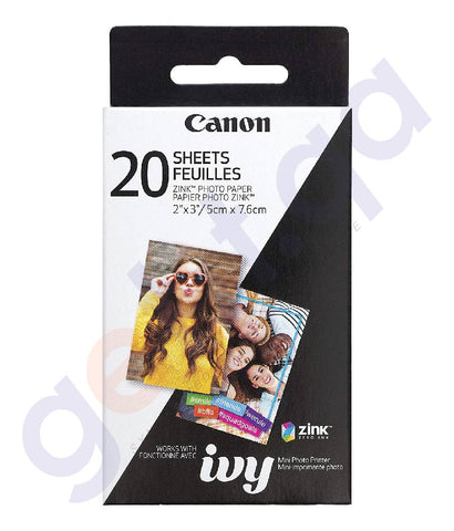 SHOP BEST PRICED CANON ZINK PHOTO PAPER 20 SHEETS IN DOHA QATAR