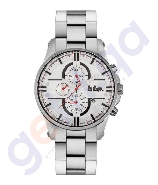 BUY LEE COOPER GENT'S MULTI FUNCTIONAL STAINLESS STEEL CASE SILVER BRACELET SILVER DIAL IN DOHA QATAR
