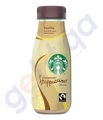 BUY BEST PRICED STARBUCKS FRAPPUCCINO VANILLA GLASS 250ML IN QATAR