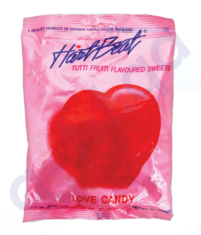BUY BEST QUALITY HARTBEAT CANDY TUTTIFRUITY 150GM IN QATAR