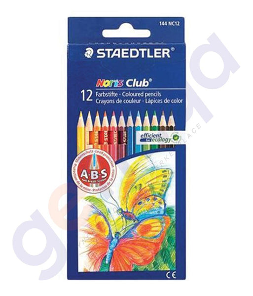 BUY STAEDTLER COLOURING PENCILS SET 12 COLOR - ST-144-NC12 ONLINE IN QATAR