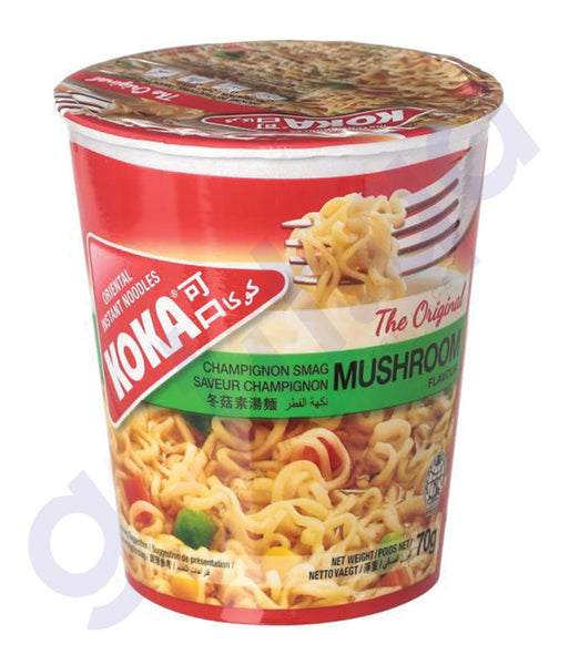 BUY BEST PRICED KOKA CUP NOODLES MUSHROOM 70GM ONLINE IN QATAR