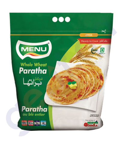 BUY BEST PRICED MENU WHOLE WHEAT PARATHA 5PCS-240GM IN QATAR