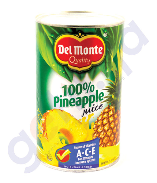 BUY DEL MONTE PINEAPPLE JUICE UNSWETENED 1.36 LTR ONLINE IN QATAR