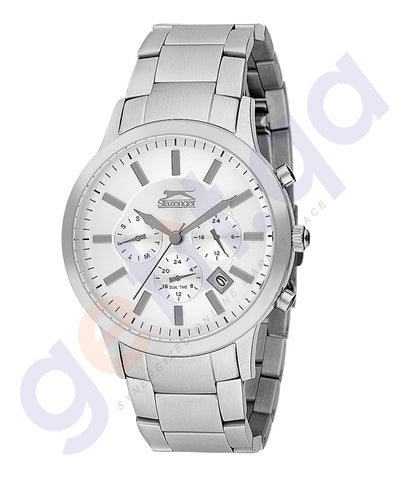 Slazenger Gents Multi Stainless steel Case Silver Dial  -SL.9.6071.2.01