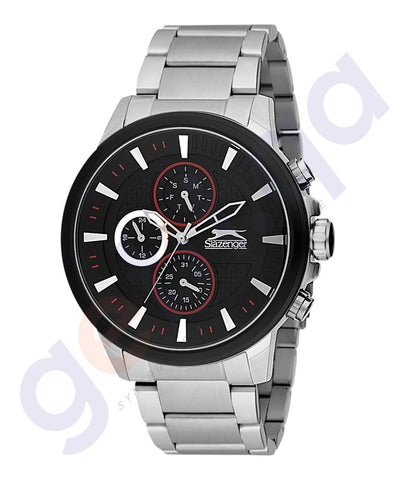 Slazenger Gents Multi Black Case Black Dial Stainless steel-SL.9.6073.2.01