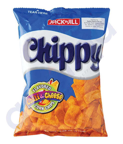 BUY BEST PRICED JACK N JILL CHIPPY CHLLY&CHEESE 110GM IN QATAR