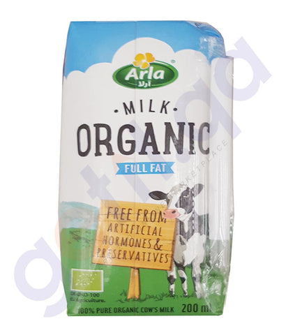 BUY BEST PRICED ARLA ORGANIC MILK FULLFAT 200ML ONLINE IN QATAR