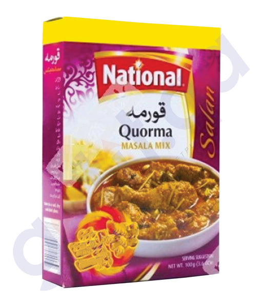BUY BEST PRICED NATIONAL QUORMA MASALA 100GM ONLINE IN QATAR