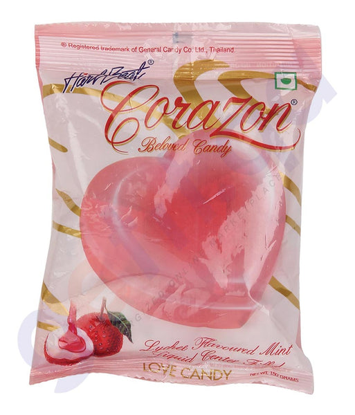 BUY BEST QUALITY HARTBEAT CANDY CORAZON LYCHEE 150GM IN QATAR