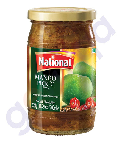 BUY BEST PRICED NATIONAL MANGO PICKLE 320GM ONLINE IN QATAR