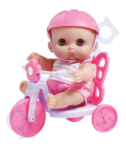 "BUY JC TOYS 8.5"" LIL' CUTESIES WITH RIDE ON & TRICYCLE - 16972 IN QATAR"
