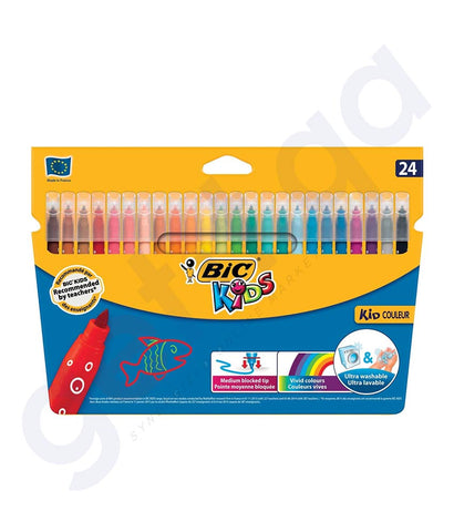 BUY BEST PRICED BIC KID COLOR MEDIUM 24SKETCHES- WALLET IN DOHA QATAR