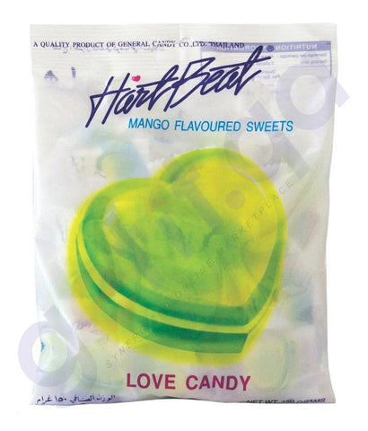 BUY BEST QUALITY HARTBEAT CANDY MANGO 150GM ONLINE IN QATAR