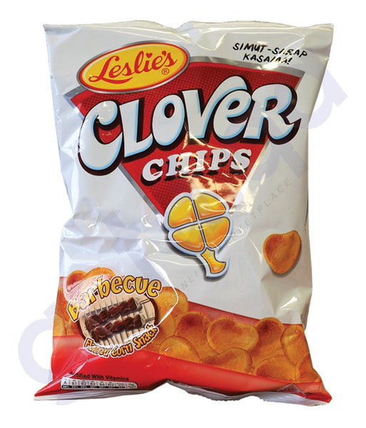 BUY BEST PRICED LESLIE'S CLOVER CHIPS BBQ 55GM ONLINE IN QATAR