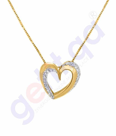 Shop Shine Gold and Diamond Pendants Model 7 in Doha Qatar