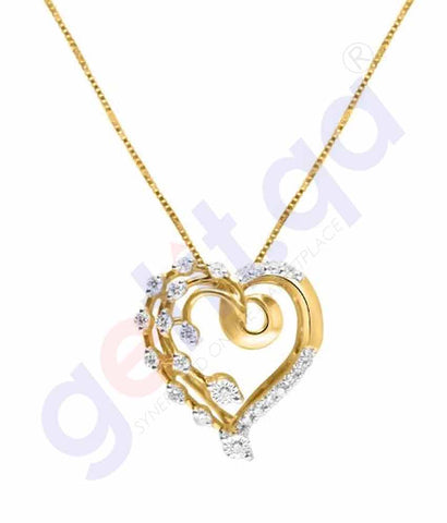 Shop Shine Gold and Diamond Pendants Model 3 in Doha Qatar