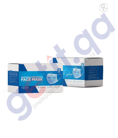 Buy B Plus Facemask 3 Ply 50pcs Online in Doha Qatar