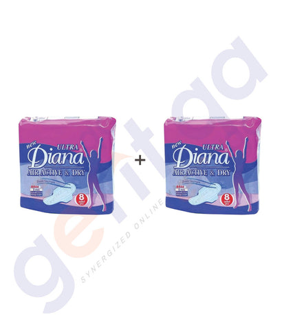 BUY DIANA ULTRA SENTRY NAPKIN 8PCS 2 PACKS ONLINE IN QATAR