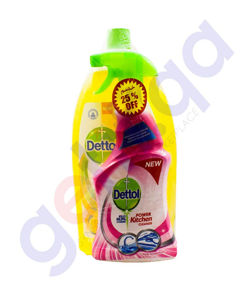 Buy Dettol MPC Lemon 1.8L+Grape fruits KC 500ML Doha Qatar