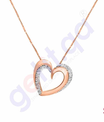 Shop Shine Gold and Diamond Pendants Model 4 in Doha Qatar