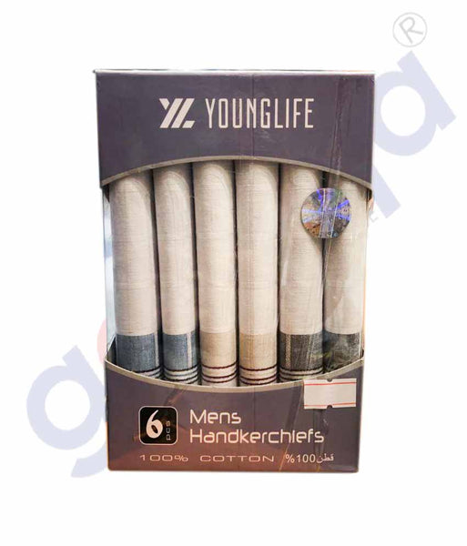 YOUNGLIFE MENS HANDKERCHIEFS 6 PCS - YLHK933M