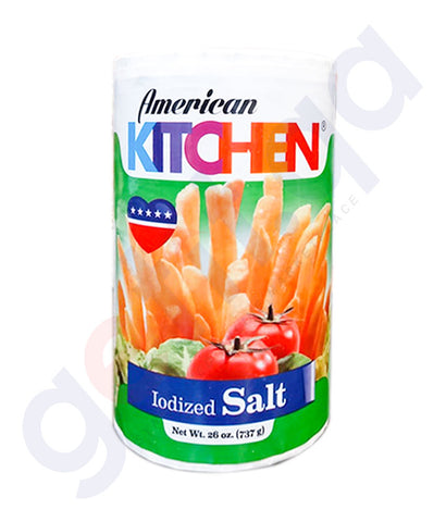 Buy American Kitchen Iodized Salt 737g Online in Doha Qatar
