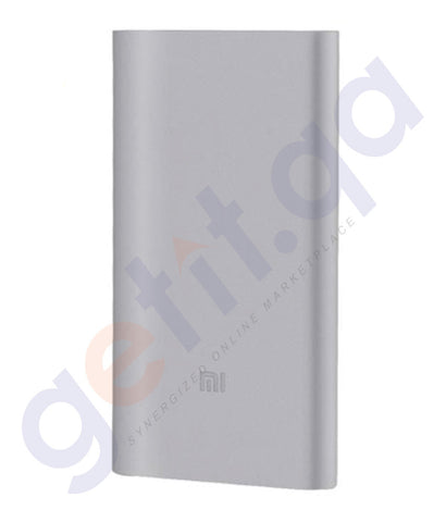 Buy Best Priced Mi Power Bank 2-10000mAh Silver Online in Doha Qatar