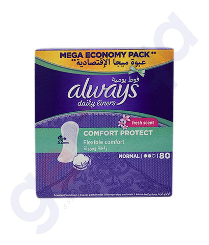 Buy Always Daily Liners Comfort Protect 80 count in Doha Qatar