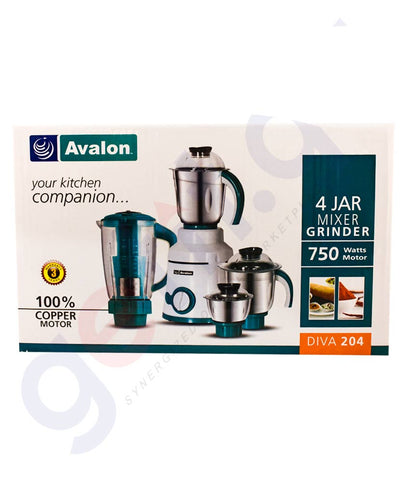 Buy Avalon 4 Jar Mixer Grinder Diva 204 750W in Doha Qatar