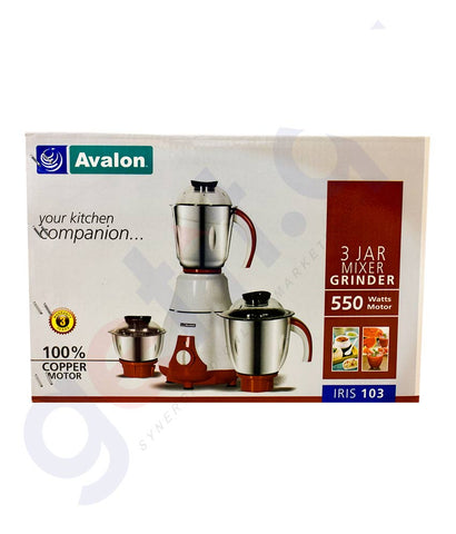 Buy Avalon 4 Jar Mixer Grinder IRIS 103 550W in Doha Qatar