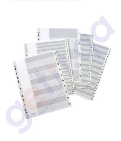 BUY ELBA INDEX PLASTIC WHITE  SOEB029-0 EB 3485 IN DOHA QATAR