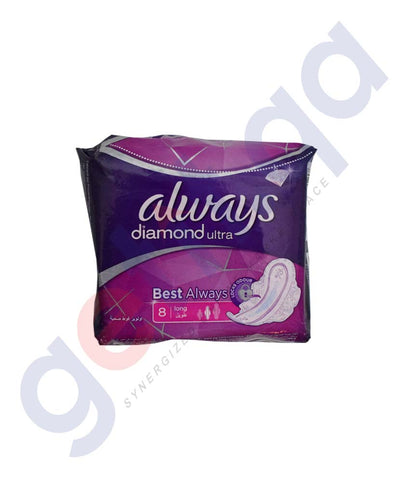 Buy Always Diamond Ultra Long 8 Pads Online in Doha Qatar