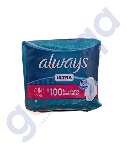 Buy Always Ultra Gel Core Long 8 Pads Online in Doha Qatar