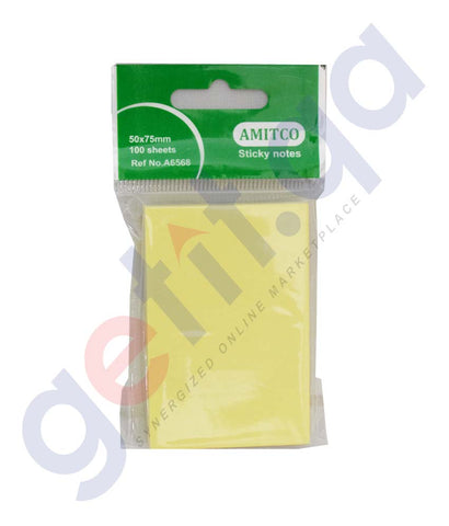 Buy Amitco Sticky Notes 50*75mm Price Online in Doha Qatar