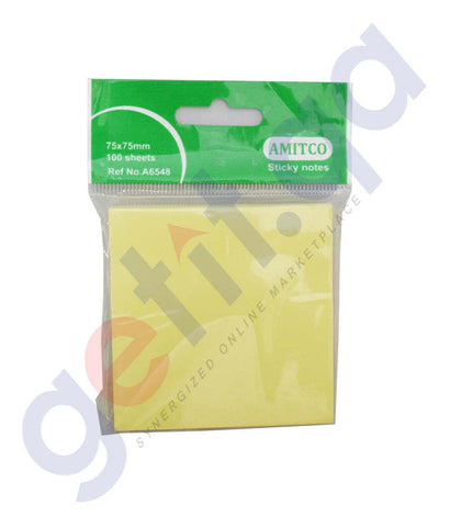 Buy Amitco Sticky Notes 75*75mm Price Online in Doha Qatar