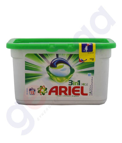 Buy Ariel 3 in 1 Pods 405gm Price Online in Doha Qatar