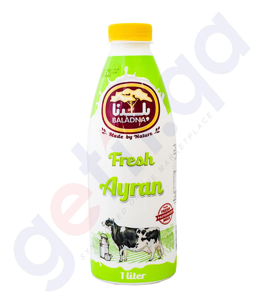 Buy Baladna Fresh Ayran Laban 1L Price Online in Doha Qatar
