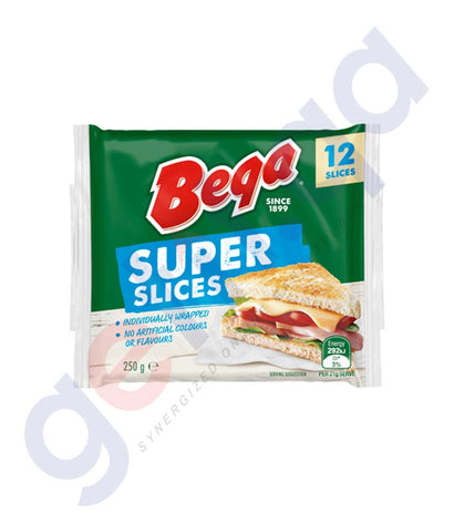 Buy Bega Super Slices Processed Cheese 250gm in Doha Qatar