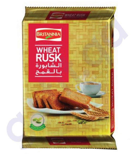BUY BEST PRICED BRITANIA WHEAT RUSK 335GM ONLINE IN QATAR