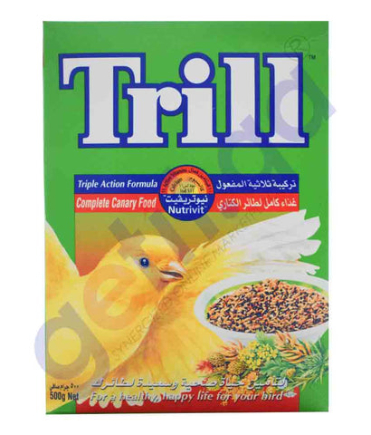 TRILL NUTRIVIT COMPLETE CANARY FOOD 500GM