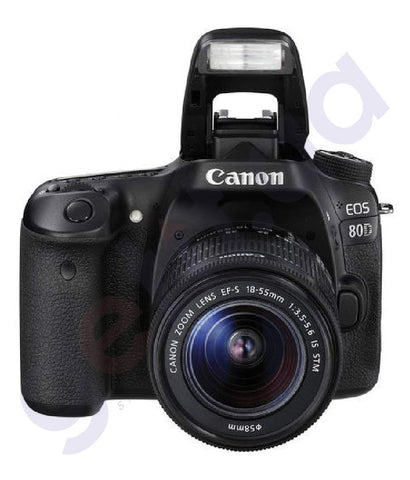 BUY CANON EOS 80D (W) 18-55MM LENS WiFi DSLR IN DOHA QATAR