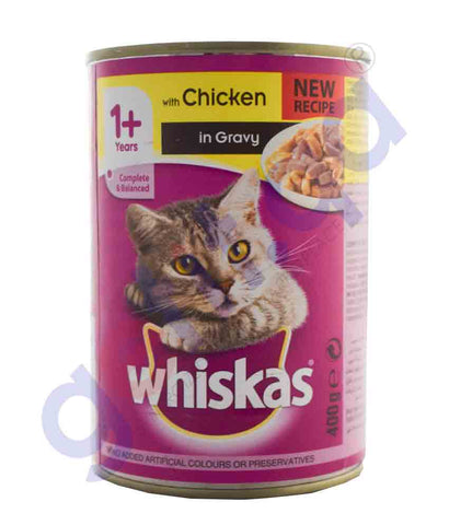 WHISKAS CHICKEN IN GRAVY 400GM