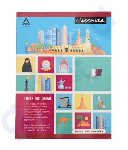 Buy Classmate Single Line 100 Pages Online in Doha Qatar