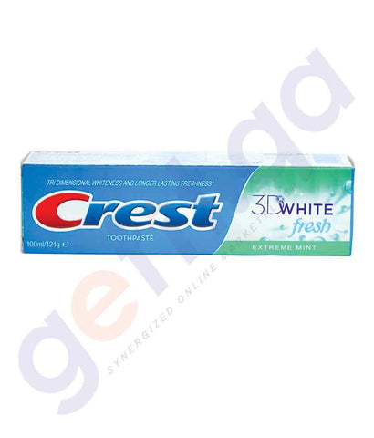BUY CREST 125ML 3D WHITE EXTREME MINT ONLINE IN QATAR